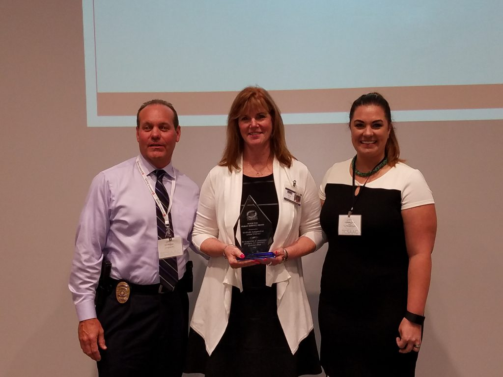 Donna Layer, Director of Guidance and Counseling Receiving Award